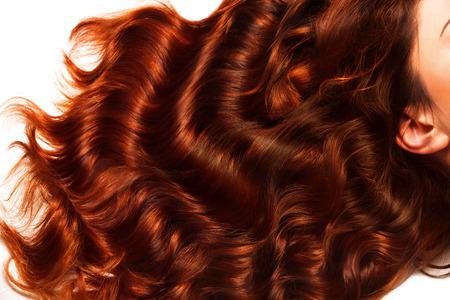 Marrón Textura del pelo rizado. Imagen de alta calidad. Foto de archivo