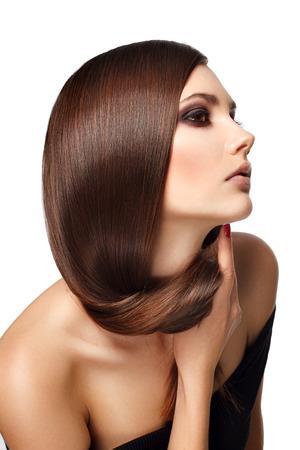 pelo: Mujer con el pelo largo belleza