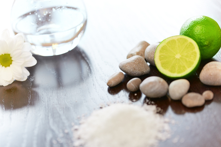 aroma: Spa composition. Salt Lime Flower and Stones. Body scrub.