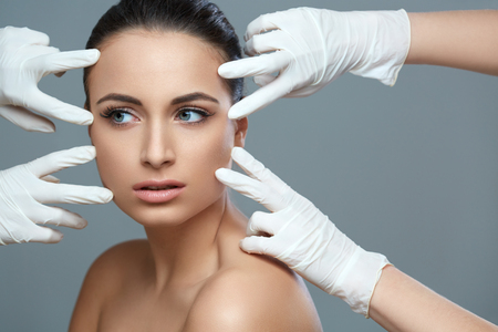 plastic surgery: Cosmetic surgery. Beautiful Woman before Plastic Operation. Beauty Face Stock Photo