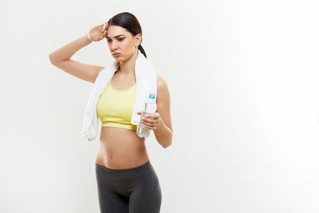 Athletic Girl With a Bottle of Water photo