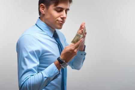 power concept: Businessman and Money. Money Power Concept