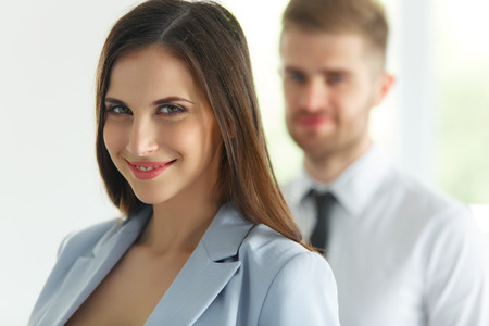 office man: Business Team. Portrait of Successful Business People. Business Partners Stock Photo
