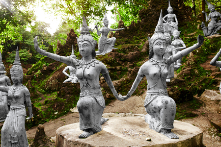 Thailand. Amphitheater Of Human And Deities Stone Statues In Buddha Magic Garden Or Secret Buddha Garden In Koh Samui Island. Place For Relaxation And Meditation. Buddhism. Travel To Asia, Tourism. Reklamní fotografie