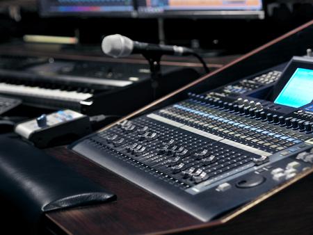 Music Recording Equipment In Sound Recording Studio