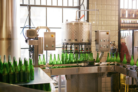 Craft Beer Manufacturing Process On Brewery. Beer Brewing System On Enterprise. High Resolution