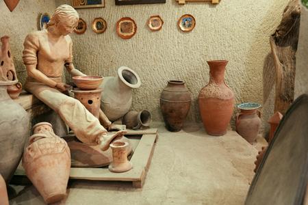 AVANOS, CAPPADOCIA, TURKEY, OCTOBER 17, 2018. Art Museum At Pottery Workshop With Handmade Earthenware Editöryel