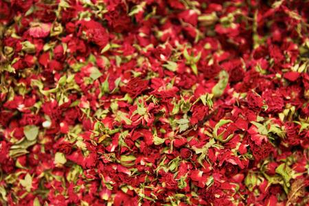 Dried Rose Flowers And Tea Herbs Closeup, Colorful Dry Tea Leaves. High Resolution Standard-Bild - 116237573