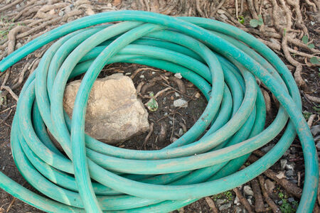 Rubber tube for water plants photo