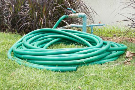 Rubber tube for water plants and gardening photo
