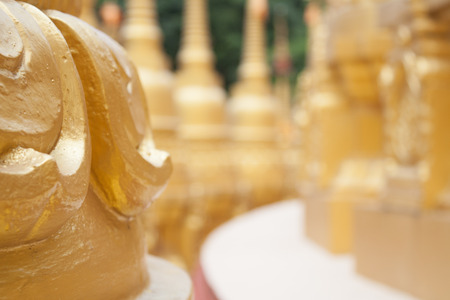 pa: Golden pagoda in Wat Pa Sawang Boon, Thailand