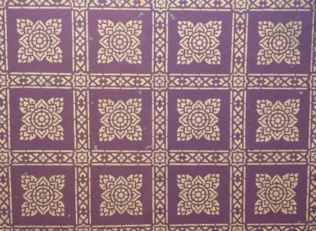 public domain: A beautiful public domain classic pattern on the temple ceiling,  of Wat Phra Phutthabat, Saraburi, Thailand