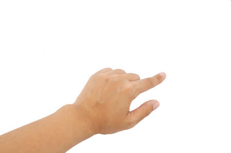one hand: One hand on white background isolated