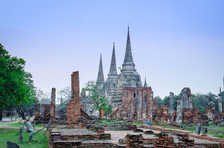 si: Wat Phra Si Sanphet Stock Photo