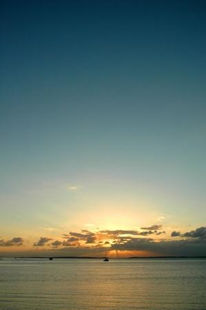 Sunset in Fraser Island for Poster Stock Photo