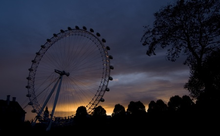 The London Eye, also known as the Millennium Wheel Stock Photo - 9880232