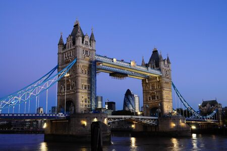 Tower Bridge in London early in the morning