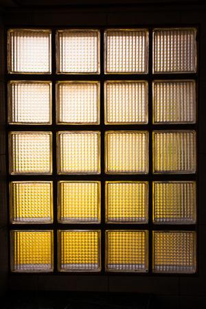 glass partition: Glass brick