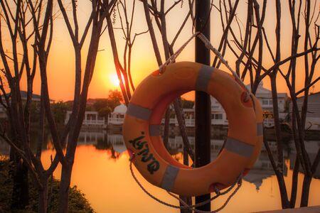 lagoon: lifebuoy in the lagoon