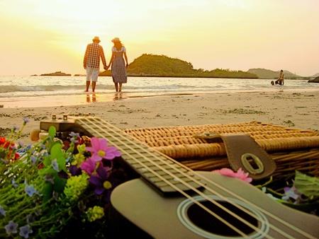 colour: Romance beach