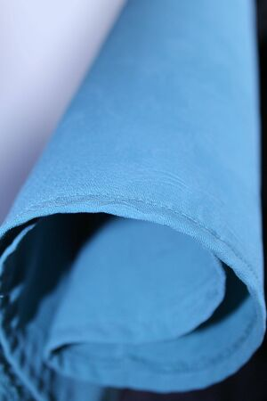 Closeup of blue cloth