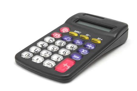 Black calculator isolated on white background Stock Photo