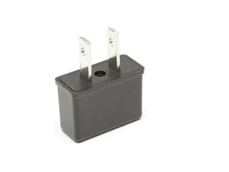 Power plug adapter isolated on white background