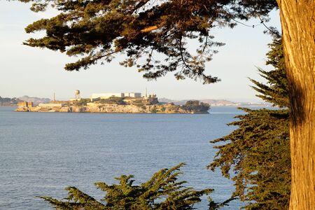 View on Alcatraz Island museum, San-Francisco Bay, USA photo