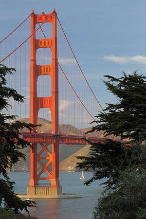 View of Golden Gate Bridge, San-Francisco Bay, California, USA Stock Photo