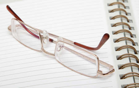ruled: Ruled diary and a pair of reading glasses