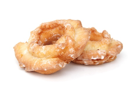 Two donuts isolated on white background