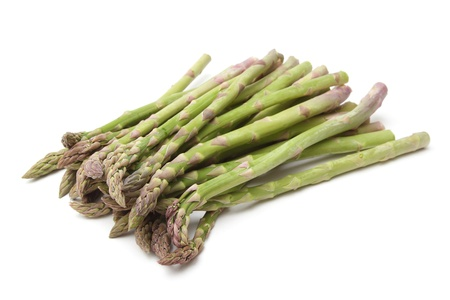 Bunch of asparagus isolated on the white background