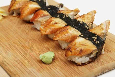 Group of broiled eel (unagi) sushi Standard-Bild