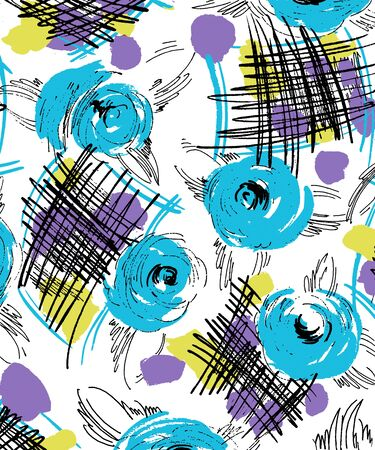Abstract scarf color print. For textile printing.