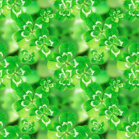lucky clover: lucky clover, seamless pattern