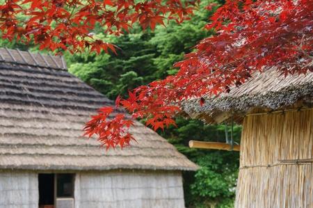Shiraoi Ainu Museum called Porotokotan in Hokkaido Stock Photo - 20658807