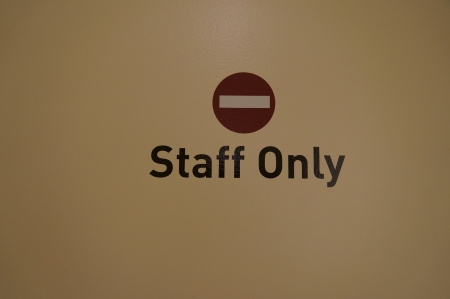 staff only: No Entry,Staff Only sign on white background Stock Photo