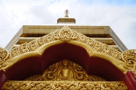 venerate: Wat Phothisompom have naga beautiful at Udon Thani, Thailand