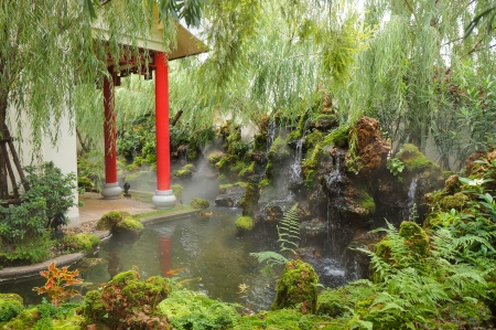 Beautiful chinese garden in Udon Thani,Thailand