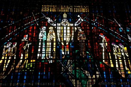 Beautiful Stained glass in Notre Dame de Lourdes, Casablanca