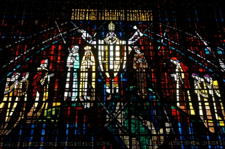Beautiful Stained glass in Notre Dame de Lourdes, Casablanca