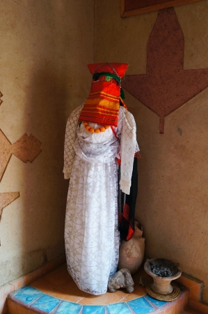 Beautiful clothes for woman in Sahara,Morocco photo
