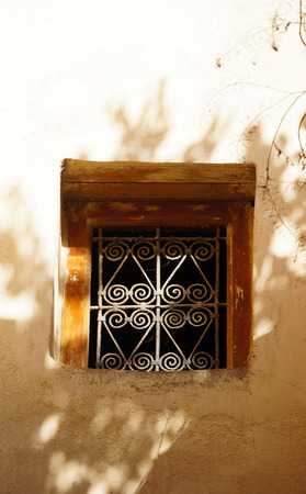 Typical window grill in Fes, Morocco, North Africa photo