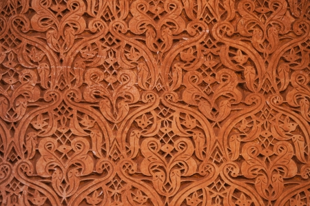 east africa: Architectural detail of Saadian tombs in Marrakech,Morocco