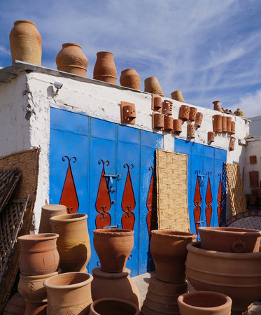 Clay wares pottery goods in Essaouira,Morocco
