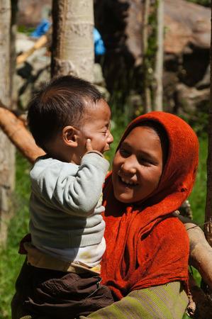 Small unidentified muslim children in in Kargil,Northern India.