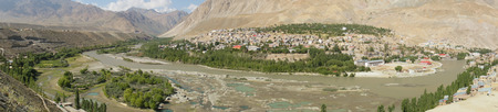 The village at Kargil in Himalaya mountains,Ladakh ,India