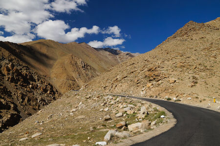 plains indian: The road in himalayas mountain on the way back to Leh ,Ladakh,Northern India