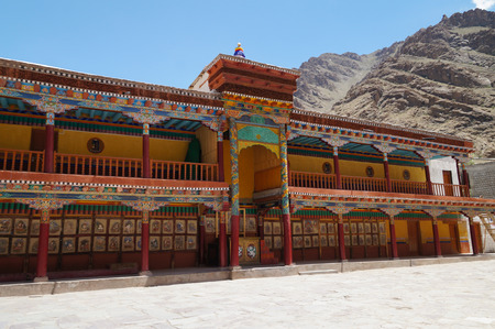 gompa: Colorful front compound of hemis monastery in Ladakh,Northern India