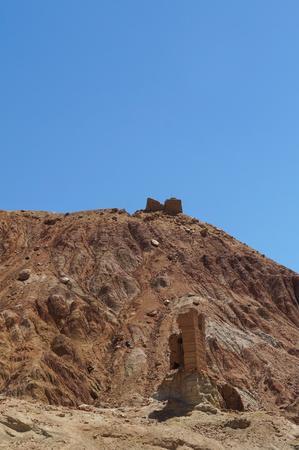 sacramentale: Antica fortezza in valle Basgo, distretto di Leh, Ladakh, India del Nord